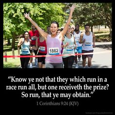 1 Corinthians 9:24 Know ye not that they which run in a race run all but one receiveth the prize? So run that ye may obtain. 1 Corinthians 9:24 (KJV) #Bible #KJV #KingJamesBible #quotes #faith from King James Version Bible (KJV Bible) http://ift.tt/29TaeOb Filed under: Bible Verse Pic Tagged: 1 Corinthians 9:24 Bible Bible Verse Bible Verse Image Bible Verse Pic Bible Verse Picture Daily Bible Verse Image King James Bible King James Version KJV KJV Bible KJV Bible Verse Pic Picture Verse…