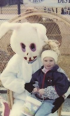 The Easter Bunny, pre-orthodontia.