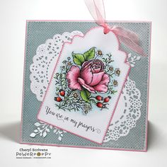 Rose and Chamomile Digital Stamp Set