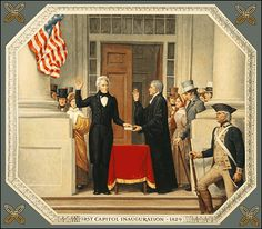 One of the earliest progressive bigots:  Andrew Jackson Inauguration - 1829 -