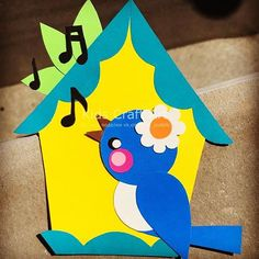 Summer sprint Paper craft for kids bird estate детские поделки а. Bird Paper Craft, Paper Birds, Bird Crafts, Diy Home Crafts, Paper Art, Craft Art, Diy Paper, Animal Crafts For Kids, Summer Crafts For Kids