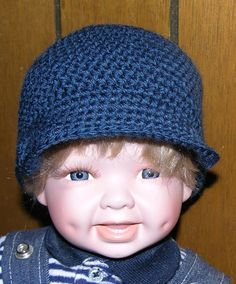 0 to 3 months navy blue Newsboy hat by grandmakaystreasures, $4.95