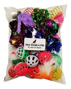30 PIECE CAT TOY VARIETY PACK CRINKLE BALLS MICE SPRINGS BELL BALLS * See this great product.Note:It is affiliate link to Amazon.