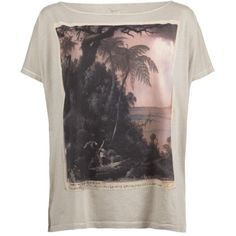 Nirvana Tee ($30) ❤ liked on Polyvore featuring tops, t-shirts, shirts, blusas, tees, allsaints, t shirt, vintage style t shirts, tee-shirt and oversized tee