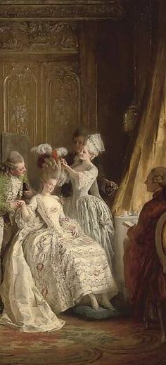 Rose Bertin, along w/ M.Leonard, created the theatrical costumes of Marie Antoinette.
