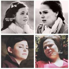 """""""You saved me."""" Regina and Snow - Once Upon a Time. ♥"""