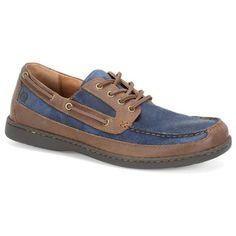 Born Harwich Boat Shoes - Mens Blue