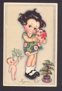Vintage Christmas CHIOSTRI postcard
