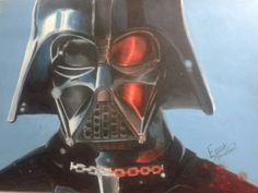 Darth Vader colored pencils
