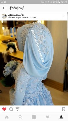 You will find different rumors about the real history of the marriage dress; tesettür First Narration; Wedding Abaya, Hijabi Wedding, Wedding Hijab Styles, Muslimah Wedding Dress, Hijab Wedding Dresses, Bridal Hijab, Hijab Bride, Pakistani Bridal Wear, Hijabs