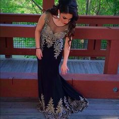 Shail K dress. This is a black dress embedded with silver diamonds. Perfect for prom. Worn once. Condition: like it's brand new. In the pictures my height is 5'2 and my weight is 125 pounds. It's a long dress so I wore about 4 inch heels. Shail K Dresses Maxi