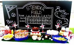 My Paper Treats: The Baseball Party. Love the chalkboard. Baseball Theme Birthday, Sports Birthday, 2nd Birthday Parties, Birthday Ideas, Sports Party, Themed Parties, Softball Party, Baseball Party, Baseball Stuff