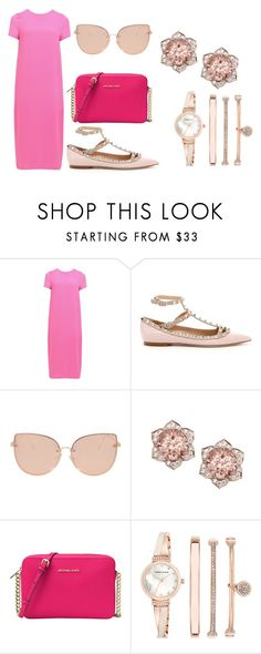 """Pretty In Pink"" by sharon-s-molnar on Polyvore featuring Paisie, Valentino, Topshop, MICHAEL Michael Kors and Anne Klein"
