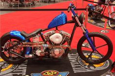 Nick Beaulieu from Forever Two Wheels with – Blue Every Thang. | New York IMS Ultimate Bike Builder, 2nd Place Retro MOD Class