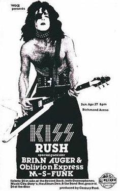 KISS Concert Poster https://www.facebook.com/FromTheWaybackMachine/