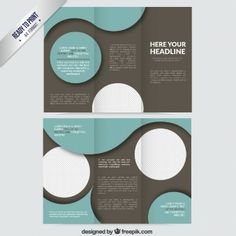 Abstract circles brochure