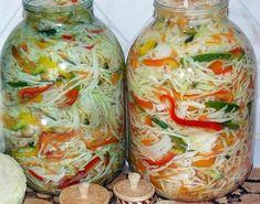 Conserve Archives - Page 3 of 14 - Bucatarul. Top Salad Recipe, Salad Recipes, Vegan Recipes, Georgian Food, Romanian Food, Russian Recipes, Recipe For 4, Canning Recipes, Mediterranean Recipes