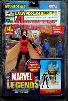 Net's photo database of Marvel Legends's MODOK Series Wasp action figure Univers Marvel, Marvel Legends Series, Marvel Series, Marvel Comics Art, Marvel Dc, Comic Book Heroes, Comic Books Art, Janet Van Dyne, Tales To Astonish