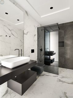 Modern bathroom design 415527503121560053 - Stunning Modern Seafront Designer Villa in Costa Dorada Source by Bathroom Design Luxury, Modern Bathroom Design, Home Interior Design, Interior Decorating, Restroom Design, Bathroom Designs, Luxury Interior, Decorating Ideas, Villa Design
