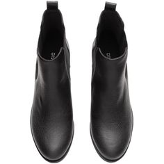 Chelsea Boots $34.99 ($35) ❤ liked on Polyvore featuring shoes, boots, ankle booties, mid heel boots, rubber sole boots, faux leather chelsea boots, chelsea boots and black faux leather boots