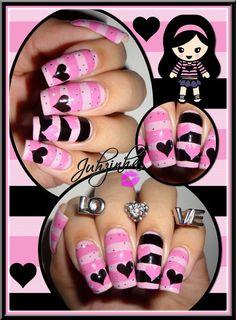 heart VALENTINE #nail #nails #nailart | See more nail designs at http://www.nailsss.com/nail-styles-2014/