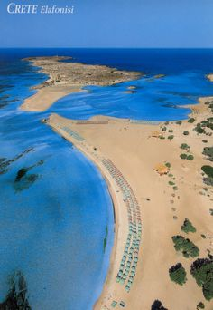 The most beautiful beach                             Elafonisi, Crete