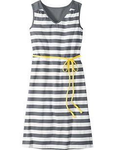 sundress, love the yellow tie belt