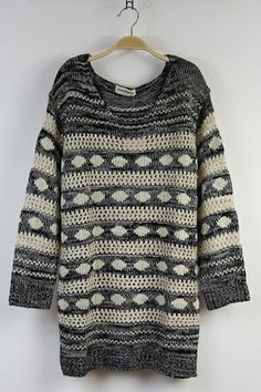 Perfect for Weekend Wear Sweater BLING Hollow Sequins Stripes Sweater #grey #sweater #fashion