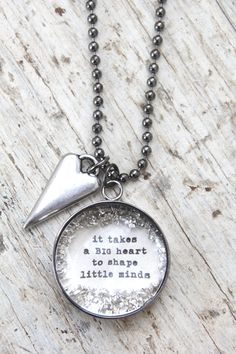 It takes a BIG heart - $30.00 : Beth Quinn Designs , Romantic Inspirational Jewelry
