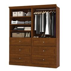 71.6 in. Classic Wardrobe in Tuscany Brown Finish Bestar http://www.amazon.com/dp/B00OAUL4WY/ref=cm_sw_r_pi_dp_wedOvb128WEWH