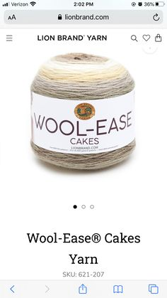 Cakes Plus, Lion Brand Yarn