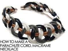 How to Make a Parachute Cord Macrame Necklace from Alonsobrino