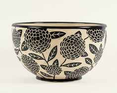 Gigantic Zinnia Bowl by Jennifer Falter: Ceramic Bowl available at www.artfulhome.com