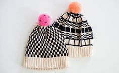 Black and White Hats by ALL Knitwear for Of a Kind