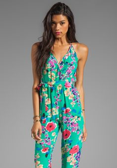 YUMI KIM Emme Romper in Green Kira Floral. this reminds me of the 2 piece outfit i have from my mom.
