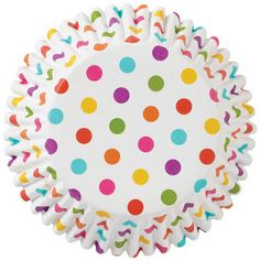 Rainbow Small Dots Foil No Fade Cupcake Liners