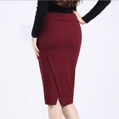 Europa y américa del nuevo invierno falda de 2015 del otoño de la mujer moda largo de lana faldas hasta la rodilla faldas de lana 2 colores No. 8 Shop A80205