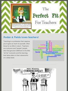 Rodan and Fields is great for teachers! www.wrinklefreeme.myrandf.com