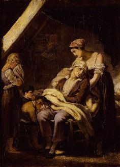 """La famille malheureuse"", Octave Tassaert ; Bayonne, Musée Bonnat"