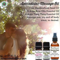 Check out our aphrodisiac recipe. And don't forget to pick up all your essential oils at miraclebotanicals.com #herbalism #lightworker #anointing #mompreneur #essentialoil #aromatherapy #reiki #organic #dreamer #angelic #healing #wellness #herbalremedies