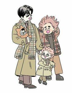 Anime Dad, Anime Love, Bl Comics, Anime Family, Shounen Ai, S Stories, Fujoshi, Pose Reference, Drawings