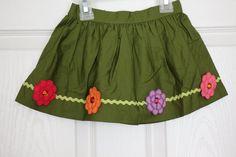 NWOT Gymboree Gemflower RickRack Skirt Pretty Posies Green Girl's Size 18 24 M #Gymboree #Everyday