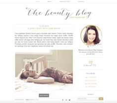 Premade blogger template / Beauty by Get Polished on @creativemarket