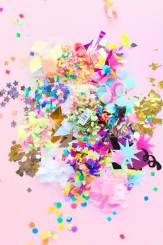 A Guide to the Best Confetti | Una guia de formas, colores y todo sobre confetti