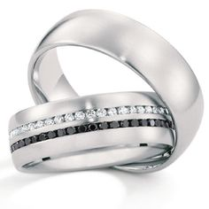 Platinum wedding bands by Christian Bauer... I surprisingly actually really really like this