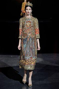 Dolce & Gabbana A/W 2013. Byzantine inspired.