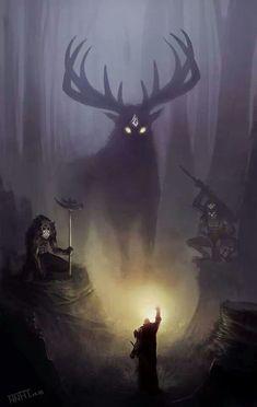 New Fantasy Art King Artists Ideas Fantasy Kunst, Dark Fantasy Art, Fantasy Artwork, Fantasy World, Mythical Creatures Art, Forest Creatures, Arte Obscura, Arte Horror, Fantasy Inspiration