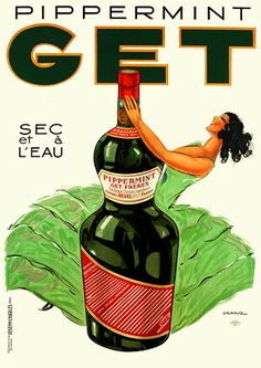 GET Peppermint aperitif  1935  http://www.vintagevenus.com.au/collections/drinks/products/vintage_poster_print-d511