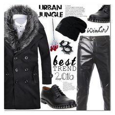 """""""Urban Jungle"""" by jecakns ❤ liked on Polyvore featuring Valentino, vintage, men's fashion and menswear"""