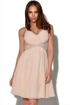 Just had to pin this Little Mistress Nude Embellished Prom Dress from www.vestryonline.com/